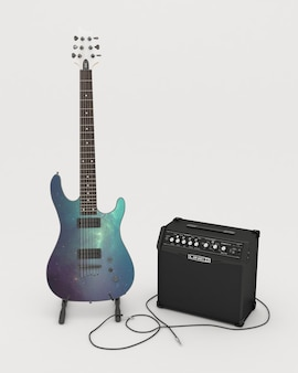 Гитара макете дизайна