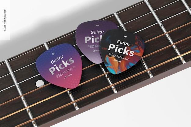 Mockup di plettri per chitarra