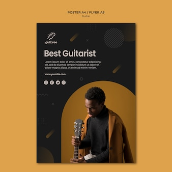 Guitar player poster design