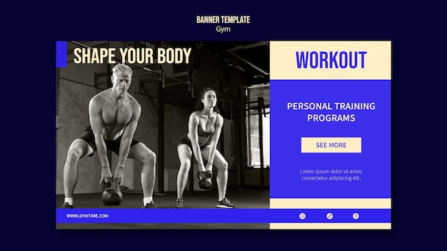 체육관 배너 디자인 서식 파일