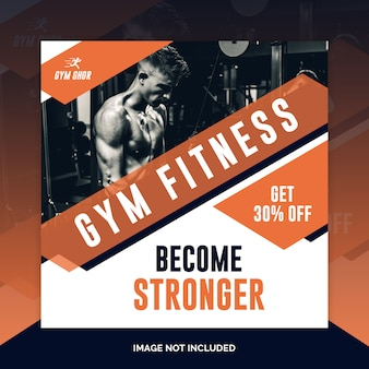 Gym banner or square flyer template