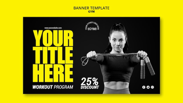 Gym banner template