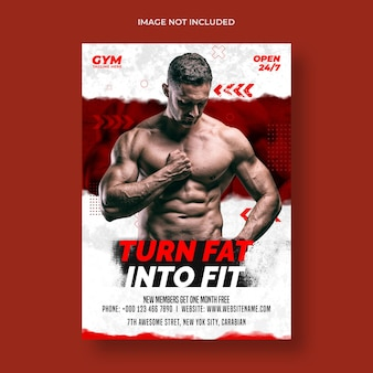 Gym fitness flyer and poster template
