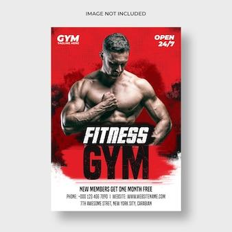 Volantino fitness palestra e modello di poster