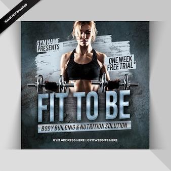 Gym fitness instagram post or banner
