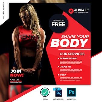 Gym fitness social media banner