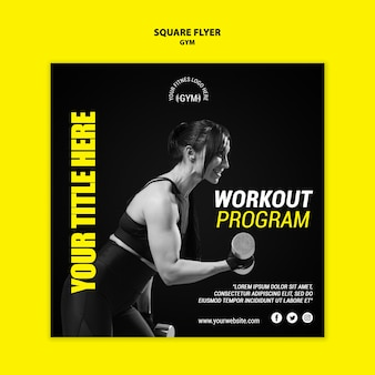 Gym flyer template concept