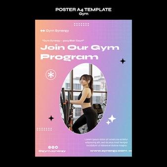 Modello di poster del programma della palestra