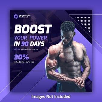 Gym social media post banner