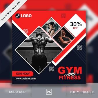 Gym social media post design