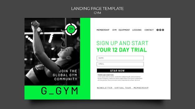 Gym traininglanding page template