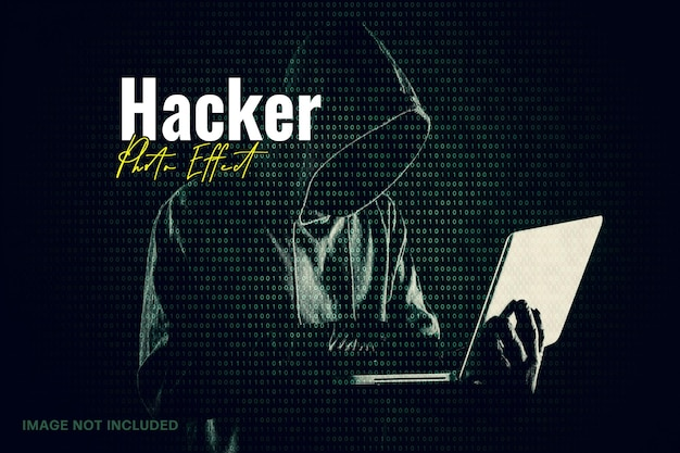Hacker matrix photo effect