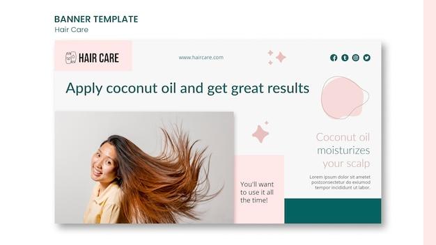 Banner orizzontale di consulenza per la cura dei capelli