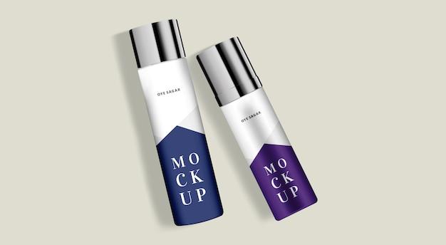 Hair spray or deodorant cosmetic mockup