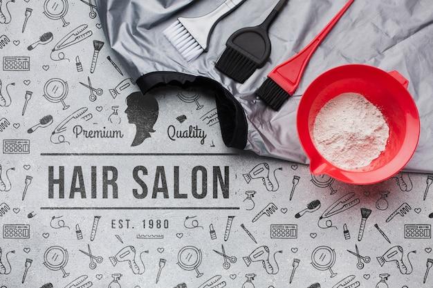 Макет парикмахерской концепции