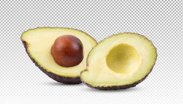 Половина авокадо изолирована