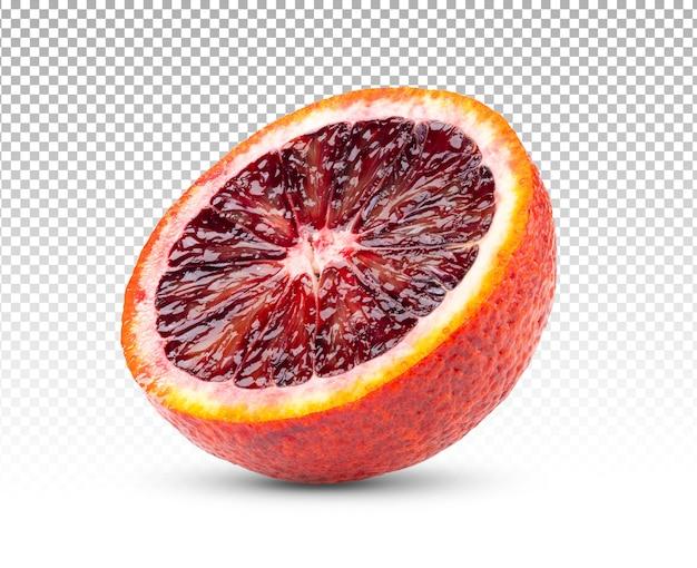 分離された半分のブラッドオレンジ