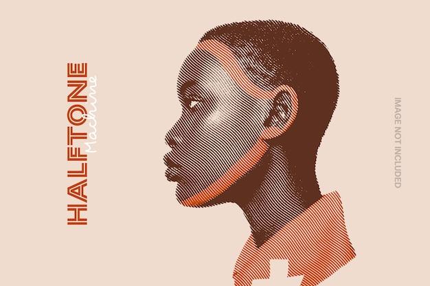Halftone distortion photo effect