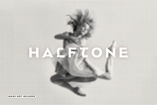 Halftone photo filter effect Premium Psd