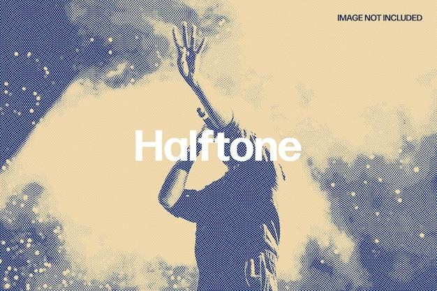 Halftone pressed photo effect