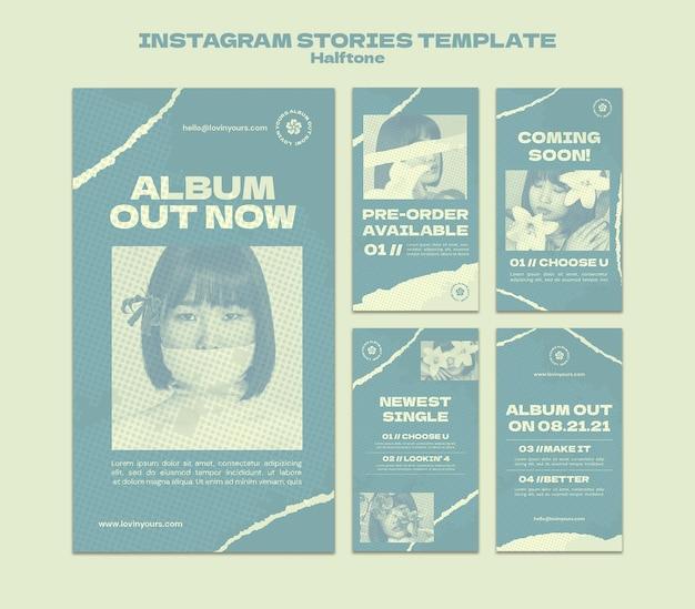 Новые истории в социальных сетях в стиле полутонов