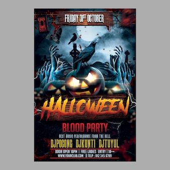 Halloween blood party