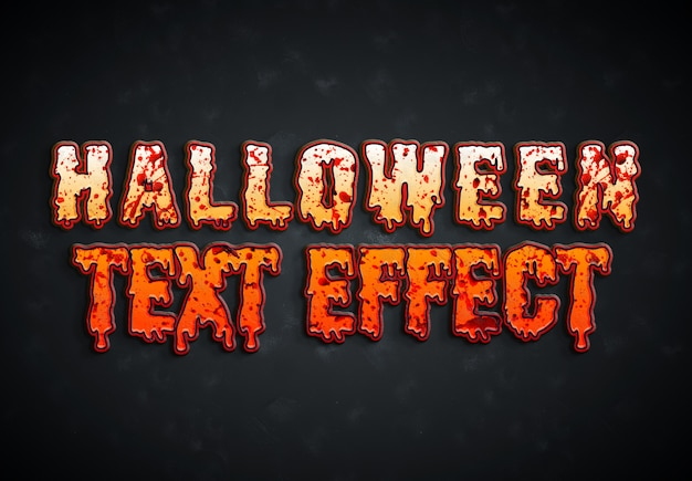 Halloween bloody text effect