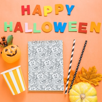 Halloween book cover mockup