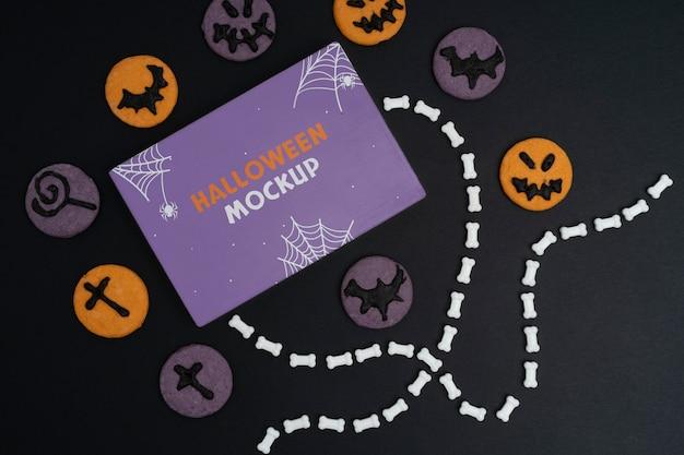 Disposizione del mock-up del bordo di halloween