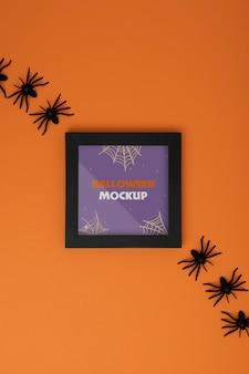 Composizione di mock-up del bordo di halloween