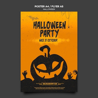 Halloween concept poster template