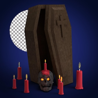 Украшение хэллоуина 3d визуализация