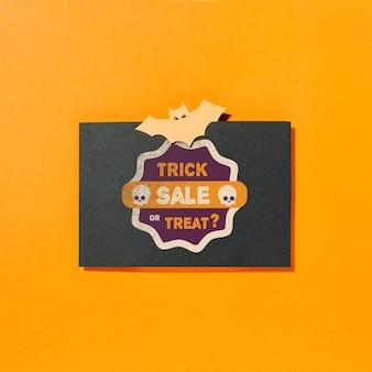 Halloween envelope mockup