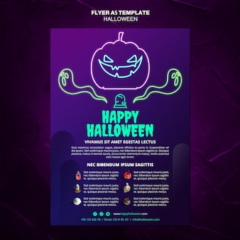 Halloween event flyer template