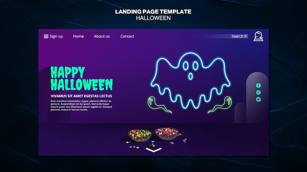 Halloween event landing page template