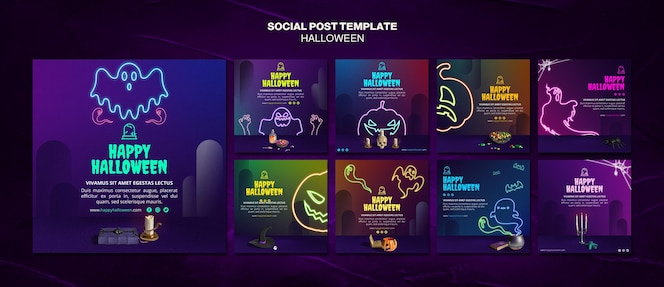 Halloween event social media post template