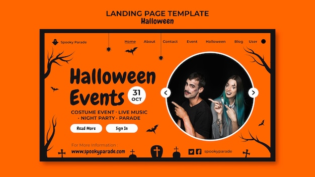 Halloween events landing page