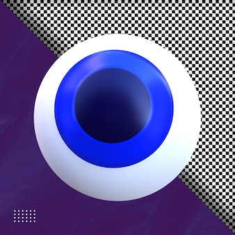 Глаз хэллоуина 3d визуализация