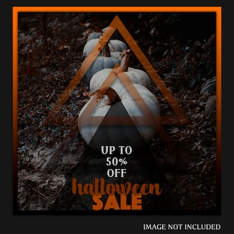 Halloween instagram post or banner template