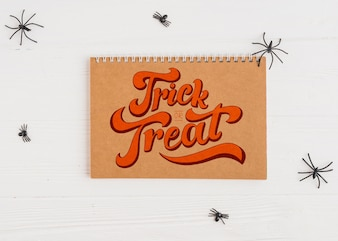 Halloween mockup with calendar cover