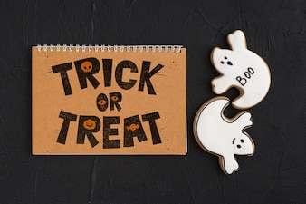 Halloween mockup with calendar