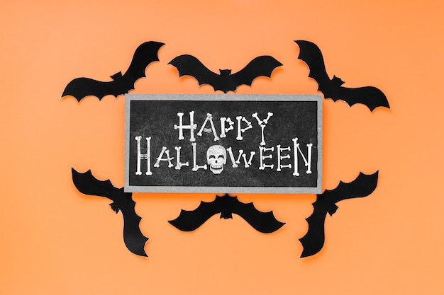 Halloween mockup with slate concept