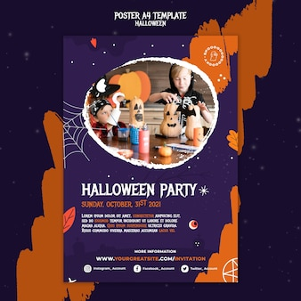 Halloween party print template