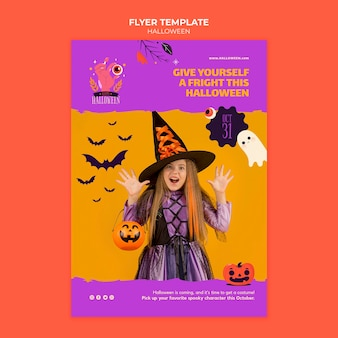 Halloween print template with photo