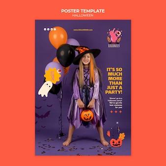 Modello di stampa di halloween con foto