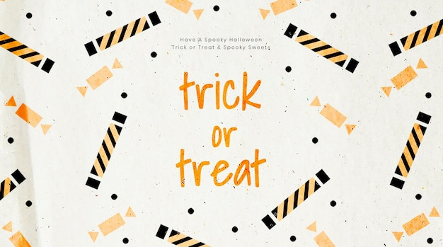 Halloween psd blog banner template with trick or treat text