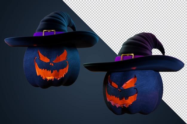 Хэллоуин тыква 3d персонаж для флаера или модели публикации в социальных сетях