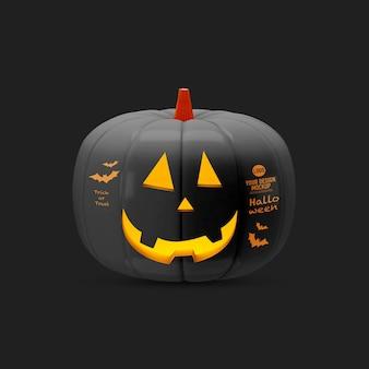 Halloween pumpkin mockup isolated