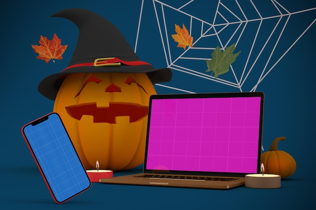 Halloween responsive mockup