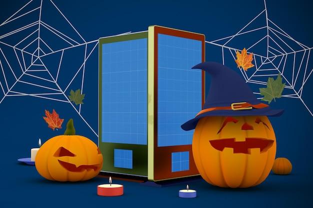 Halloween signage mockup
